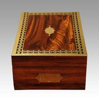 Antique Rosewood Cut Brass Box (4 of 7)