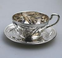 Eduard Friedman - Extremely Rare 800 Solid Silver Vienna Cup & Saucer 1900 (4 of 15)