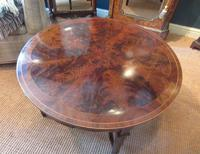 Fine Antique Figured Mahogany  'Sunburst Top' Coffee Table (5 of 6)
