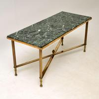 Vintage Brass & Marble Coffee  Table (8 of 9)