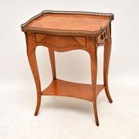 Antique French King Wood Side Table (7 of 9)
