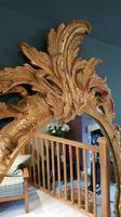 Antique Oval Timber Gilt Wall Mirror (3 of 6)