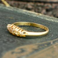 The Antique 1921 Old Cut Five Diamond Ring (4 of 8)