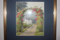Antique Original Watercolour - Rose Arch - Mary Sophia Godlee '1860-1932' (3 of 5)