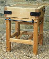 Vintage Butcher's Block on Stand (6 of 7)