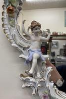 Beautiful Large Sherholtz, Dresden Porcelain Mirror (4 of 5)