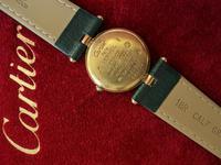Cartier Ladies Vendome Wristwatch Green Strap (3 of 3)