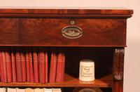 19th Century Mahogany Open Bookcase with Two Drawers (5 of 12)