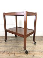 Antique Mahogany Two Tier Drinks Trolley or Tea Trolley (6 of 11)