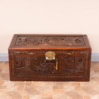 Richly Carved Oriental Chest