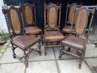 Dining chairs. set of 6, Tudor style (2 of 7)
