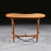 Fine 19th Century Satinwood Kidney Shape Side Writing Table In The Manner Of Gillows (5 of 11)