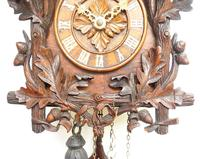 Antique Carved Early Cuckoo Clock Weight Driven Visible Pendulum (14 of 14)