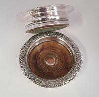 Pair of Victorian Silver Plated Coasters (5 of 5)