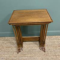 Edwardian Mellow Walnut Nest of Four Antique Tables (3 of 5)