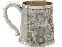 Chinese Export Silver Christening Mug - Antique c.1800 (12 of 12)
