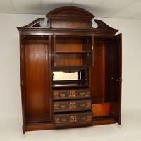 Antique Victorian Inlaid Mahogany Wardrobe by James Shoolbred (3 of 17)