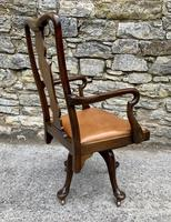 Antique Mahogany Swivel Office Desk Chair (6 of 12)