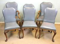 Set of Six Antique Queen Anne Style Walnut Dining Chairs (15 of 15)