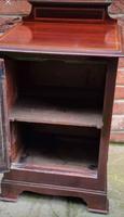 Edwardian Mahogany Wood Bedside Cabinet - Converted Purdonium (8 of 9)