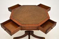 Regency Style Mahogany  Leather Top Drum Table (4 of 8)