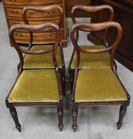 1940's Mahogany Set 4 Heart shape Dining chairs with Pop out Seats