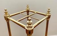 Victorian Brass & Cast Iron Stick Stand (4 of 8)