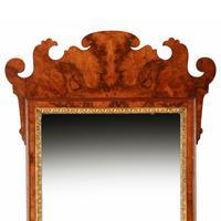 Georgian Style Burr Walnut Mirror (3 of 8)