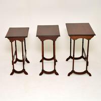 Antique Mahogany Nest of Three Tables (6 of 9)
