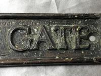 English Antique Bronze Edwardian Garden Plaque Gate Sign Please Close The Gate (11 of 16)