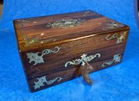 Victorian Jewellery Box with Mother of Pearl Inlay (7 of 13)