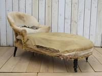 Antique French Chaise Longue Day Bed for re-upholstery (8 of 8)