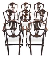 Georgian fine quality set of 8 mahogany dining chairs c.1800 (11 of 11)