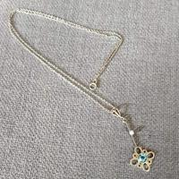 Pretty Edwardian 14ct Gold Aquamarine Necklace / Pendant (8 of 8)