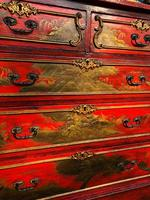 Antique Lacquered Chinoiserie Chest of Drawers (2 of 11)
