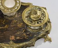 Rare 19th Century Gilt Bronze & Chinese Lacquered Inkwell (4 of 8)