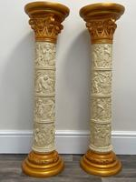 Dutch Golden Age Style Gilt Harvest Relief Plinth Display Torcheres (7 of 87)