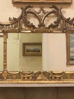 Late 19th Century Ornately Carved Giltwood 3-Section Overmantel Mirror (3 of 6)
