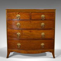 Antique Bow Front Chest of Drawers, English, Mahogany, Tallboy, Victorian, 1870 (9 of 12)