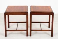 Simple Pair of Mahogany End Tables (2 of 4)