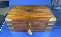Georgian Solid Mahogany Brassbound Campaign Box (8 of 16)