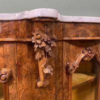Spectacular Burr Walnut Serpentine Antique Credenza (7 of 7)