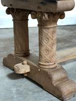 Extremely Rare Large Oak Refectory Table (7 of 35)
