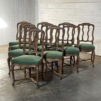 Set of 10 French Bleached Oak Farmhouse Dining Chairs (8 of 16)