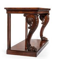 Regency Mahogany Console Table (8 of 8)