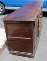 1850s Heavy Oak Dresser Base with Cupboards and Drawers (4 of 4)