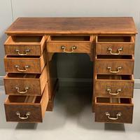Edwardian kneehole desk in walnut (3 of 5)
