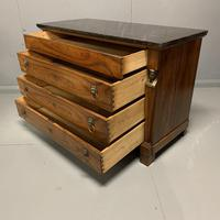 French Cherry & Marble Top Commode Chest of Drawers (5 of 8)