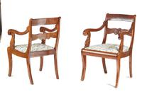 Pair of French Mahogany Carver Chairs (3 of 7)
