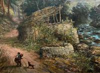 William R Stone Lovely Dolgilly North Wales Landscape Painting (9 of 13)